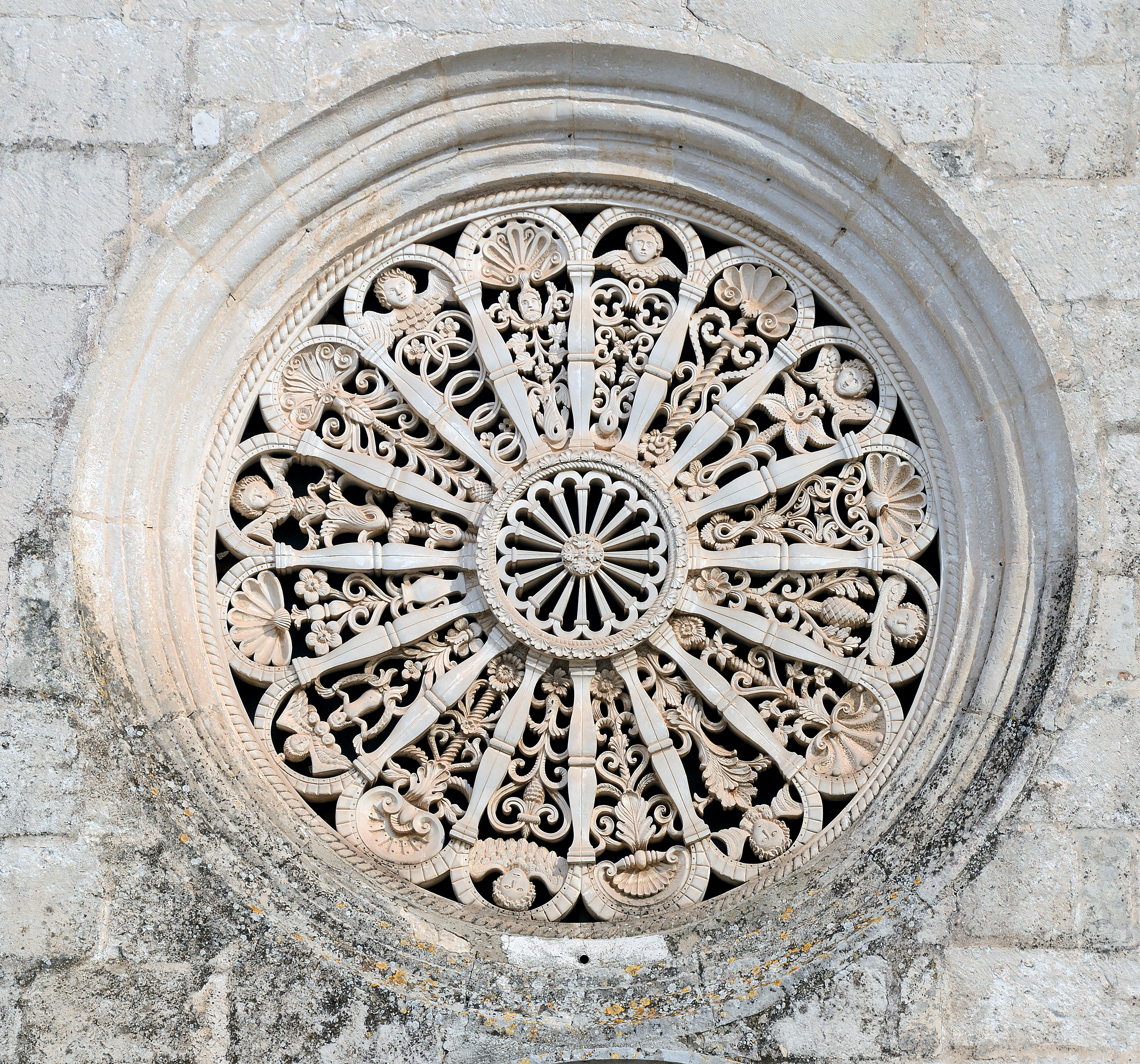 Rose window on Madonna della Greca in Locorotondo